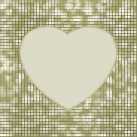 Elegant mosaic glowing heart background  EPS 8 vector file included