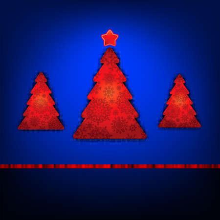 Christmas trees card template  EPS 8 vector file included Vector