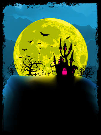 Spooky halloween background  EPS 8 vector file included Vector