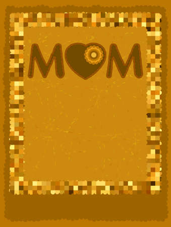 Chocolate card mom ay template  EPS 8 vector file included Vector