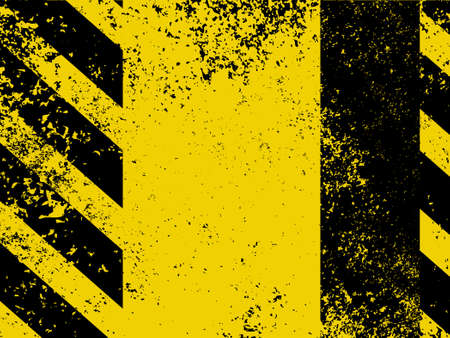worn sign: Diagonal hazard stripes texture  These are weathered, worn and grunge-looking  EPS 8 vector file included