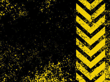 dangerous construction: A grungy and worn hazard stripes texture  EPS 8 vector file included Illustration