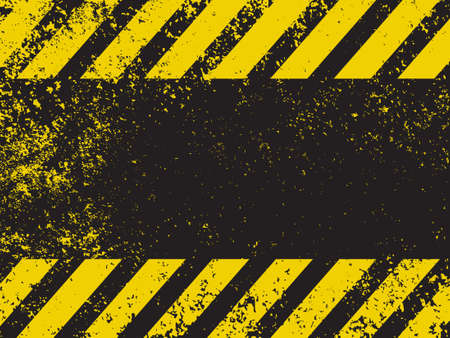 A grungy and worn hazard stripes texture  EPS 8 vector file included Vector