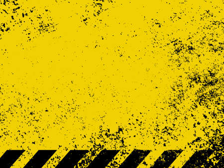 Diagonal hazard stripes texture  These are weathered, worn and grunge-looking  EPS 8 vector file included