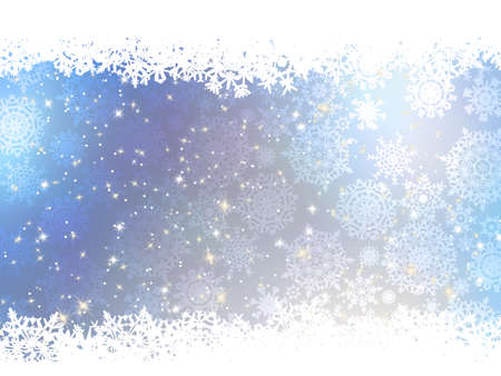 Christmas blue background with snow flakes  And also includes EPS 8 vector