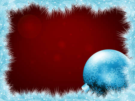 snoflake: Christmas balls at the xmas glow background for holiday design  EPS 8 vector file included