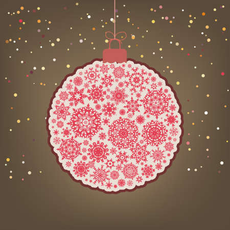hristmas: Сhristmas background with christmas ball  EPS 8 vector file included Illustration