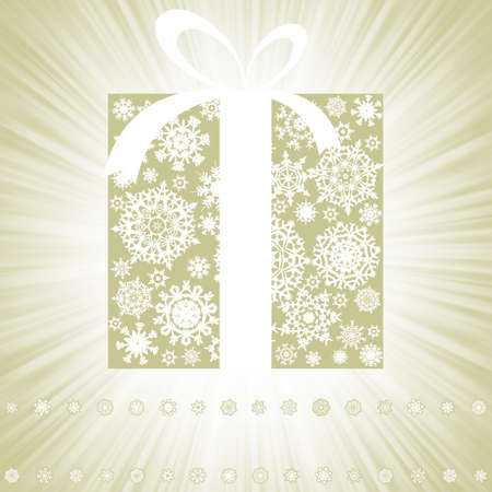 Elegant burst with gift box  EPS 8 vector file included