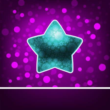 estrella azul: Estrella azul en fiolet abstracto Feliz A�o Nuevo EPS 8 archivo vectorial incluido