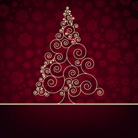 Retro christmas card Template  EPS 8 vector file included