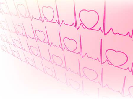 Résumé électrocardiogramme, la forme d'onde de l'essai ECG fichier EPS 8 vecteur inclus Banque d'images - 29839728