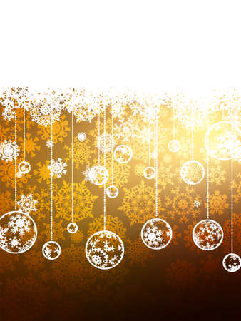Elegant Gold Christmas Background  EPS 8 vector file included Vector
