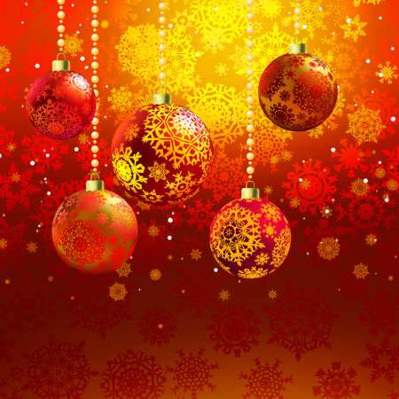 hristmas: Сhristmas background with baubles  EPS 8 vector file included