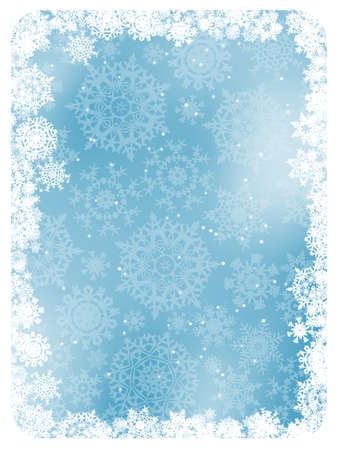 Blue christmas background with snowflakes  EPS 8 vector file included Vector