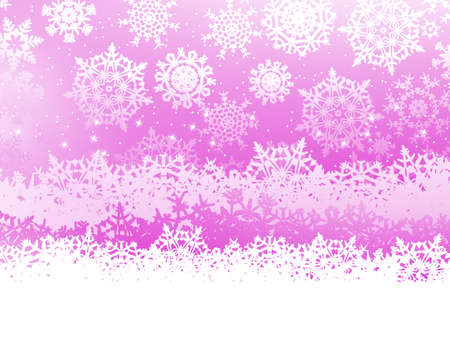 Winter background with many different falling stylish snowflakes  EPS 8 vector file included Illustration