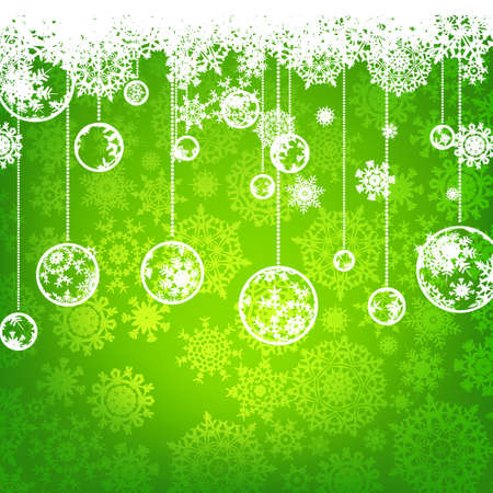 winter holiday: Beautiful green happy Christmas card,winter holiday background  EPS 8 vector file included