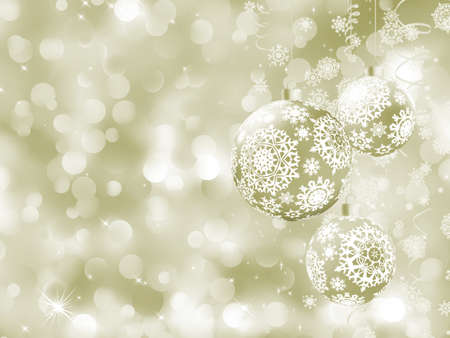 cristmas card: Elegant Christmas balls on abstract background  EPS 8 vector file included
