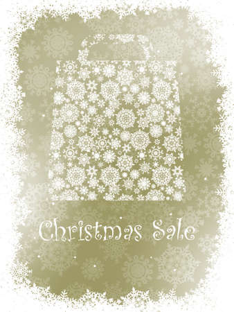 Snowflake gift bag on elegant background with copy space  EPS 8 vector file included Illustration