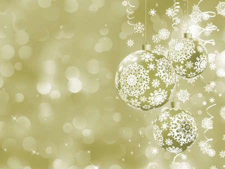 glimmered: Elegant Christmas card with balls  EPS 8 vector file included