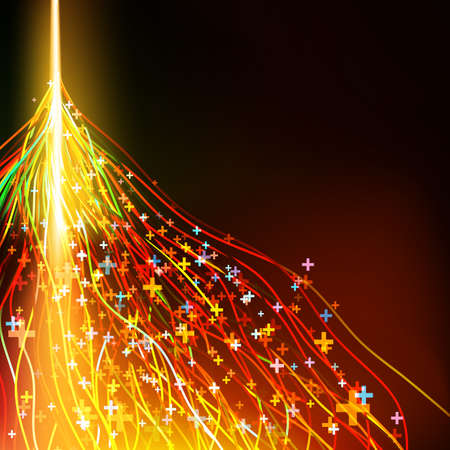 Energy design against dark background  EPS 10 vector file included Vector