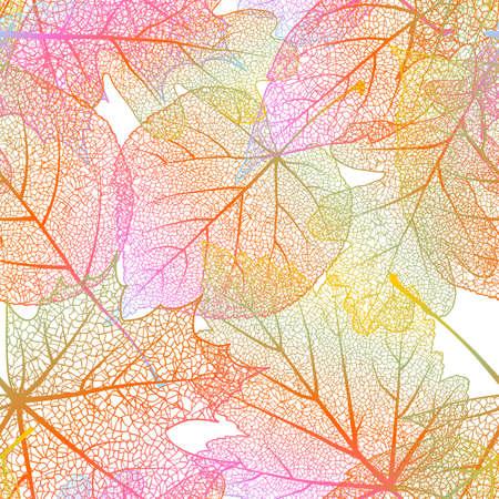 Detailed leaves seamless background    Illustration