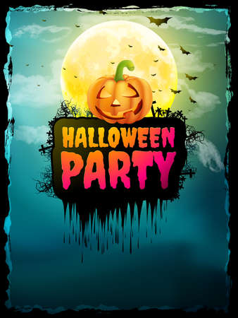 Happy Halloween Party Poster. EPS 10 vector file included Illustration
