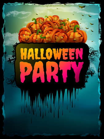 halloween poster: Happy Halloween Party Poster. EPS 10 vector file included Illustration