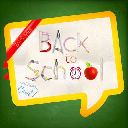 intermediate: Back to school background.