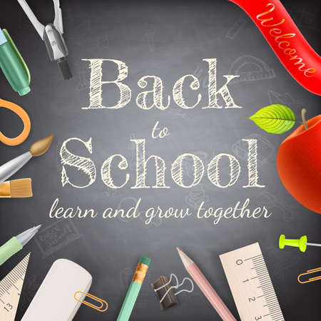 office background: Welcome back to school. EPS 10 vector file included