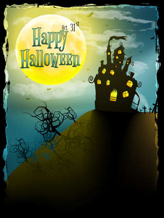 Halloween party greeting card. Vector
