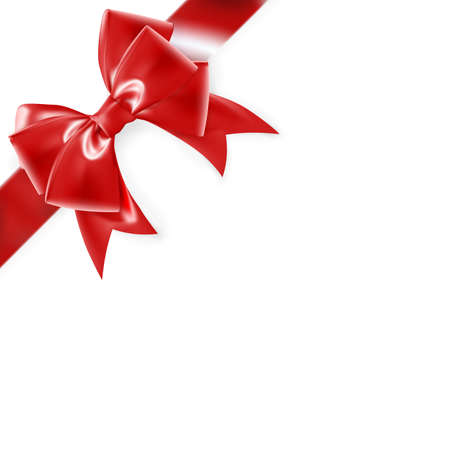 braiding: Red bow isolated on white.