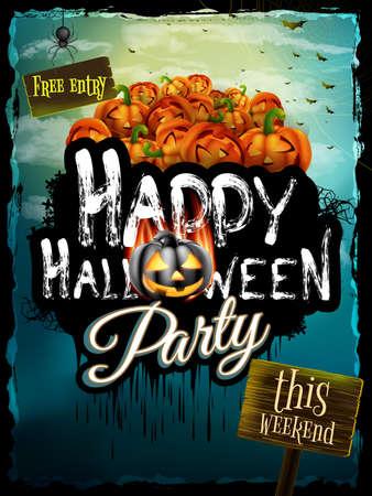 night background: Halloween night background.  Illustration