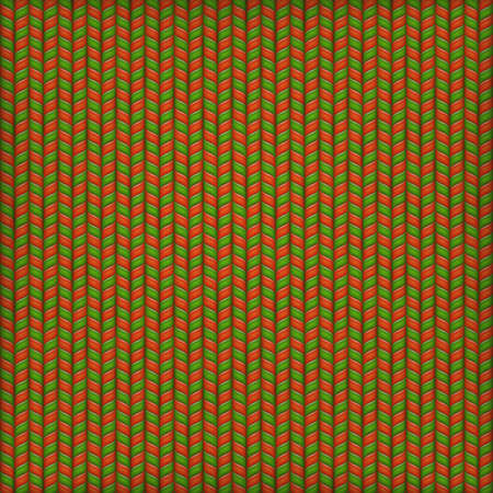 christmas plaid: Vector Needlework Background, Red Green Ornamental Knitted Pattern.