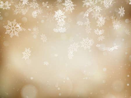 눈송이와 텍스트에 대 한 장소 우아한 크리스마스 배경. 포함 된 EPS 10 벡터 파일