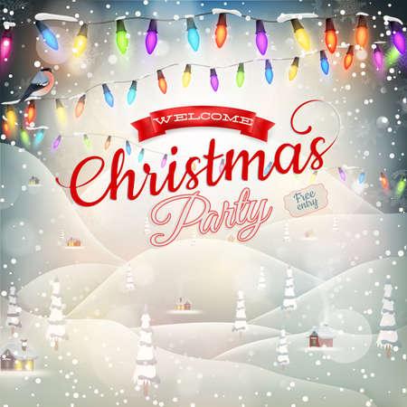 season's greeting: Christmas landscape Poster Illustration