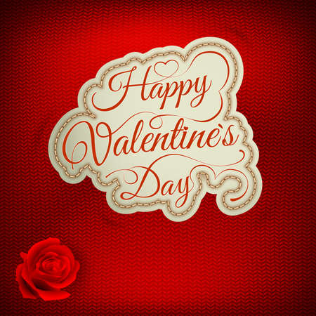 stockinet: Happy Valentine\s Day Lettering - Typographical Background.