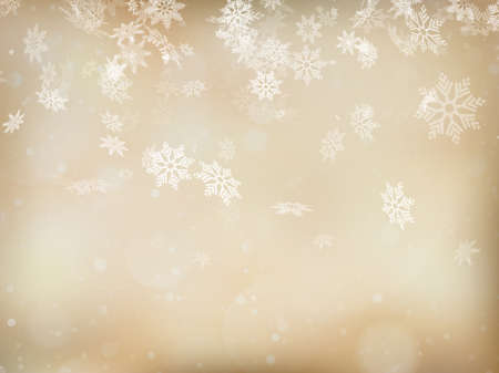 gold snowflakes: Elegant Christmas background with snowflakes and place for text.