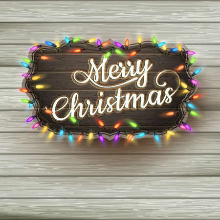 season greetings: Christmas greeting Calligraphy - Vintage Signboard.  Illustration