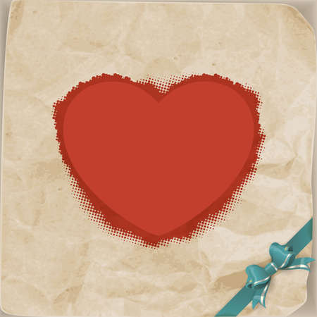 Vintage heart and bow Valentines day. EPS 10 vector file included Vector