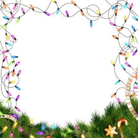 christmas bulbs: Christmas lights isolated on white background.