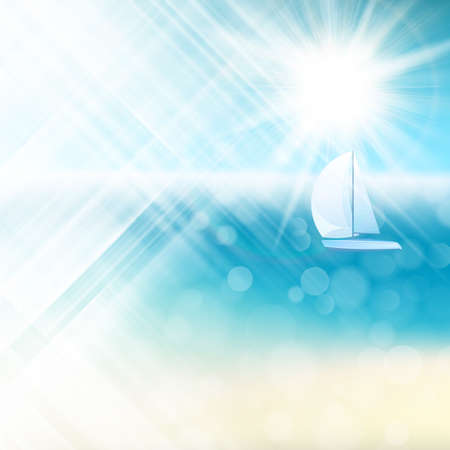 light burst: Summer sun light burst.   Illustration