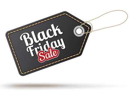sell out: Black Friday sales tag.