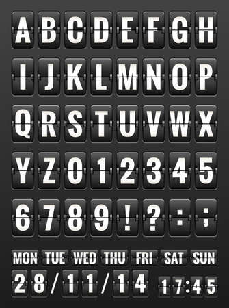 display type: Black Friday, abc flipping panel. EPS 10 vector file included