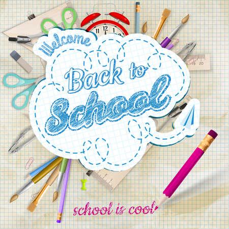 Back to school Hintergrund. Standard-Bild - 39503111