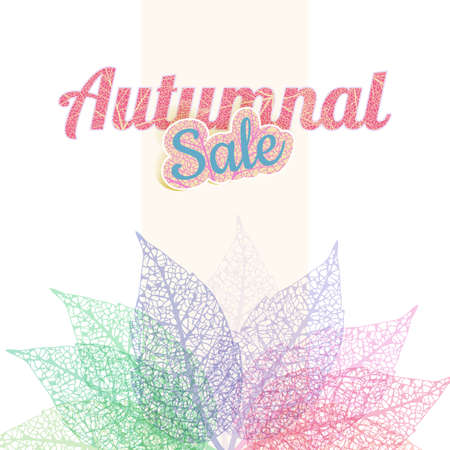 plant delicate: Autumnal sale Leaf abstract background.