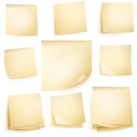 Post-it notities op een witte achtergrond. vector bestand opgenomen Stock Illustratie