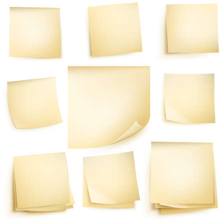 post it note: Post note isolati su sfondo bianco. vettoriale file incluso