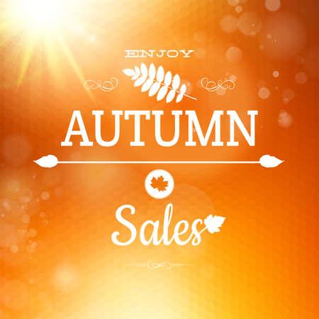 Autumn sale background. Geometric design. Illustration