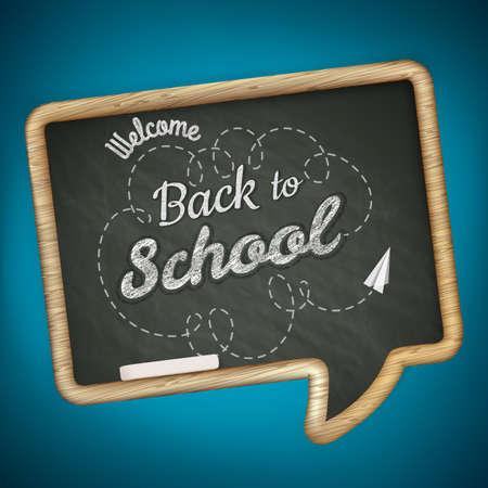 letras negras: De vuelta a la escuela. Vectores