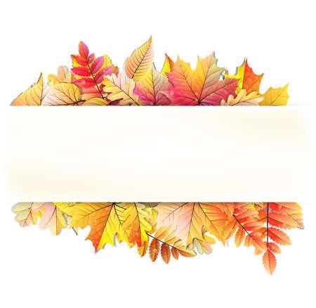 Autumn frame avec la chute des feuilles. Illustration